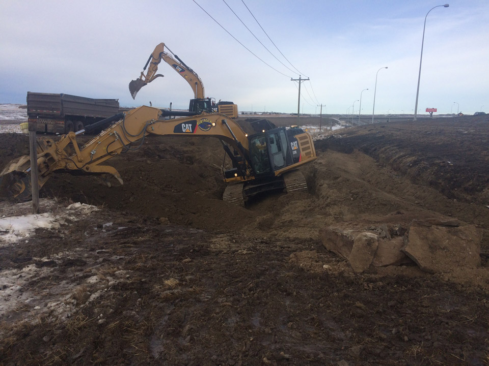 southern alberta highway construction cleanup