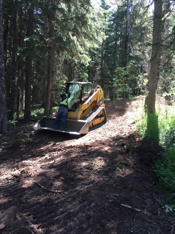 southern alberta road construction skid steer
