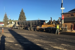 southern alberta road construction upgrade street caroline