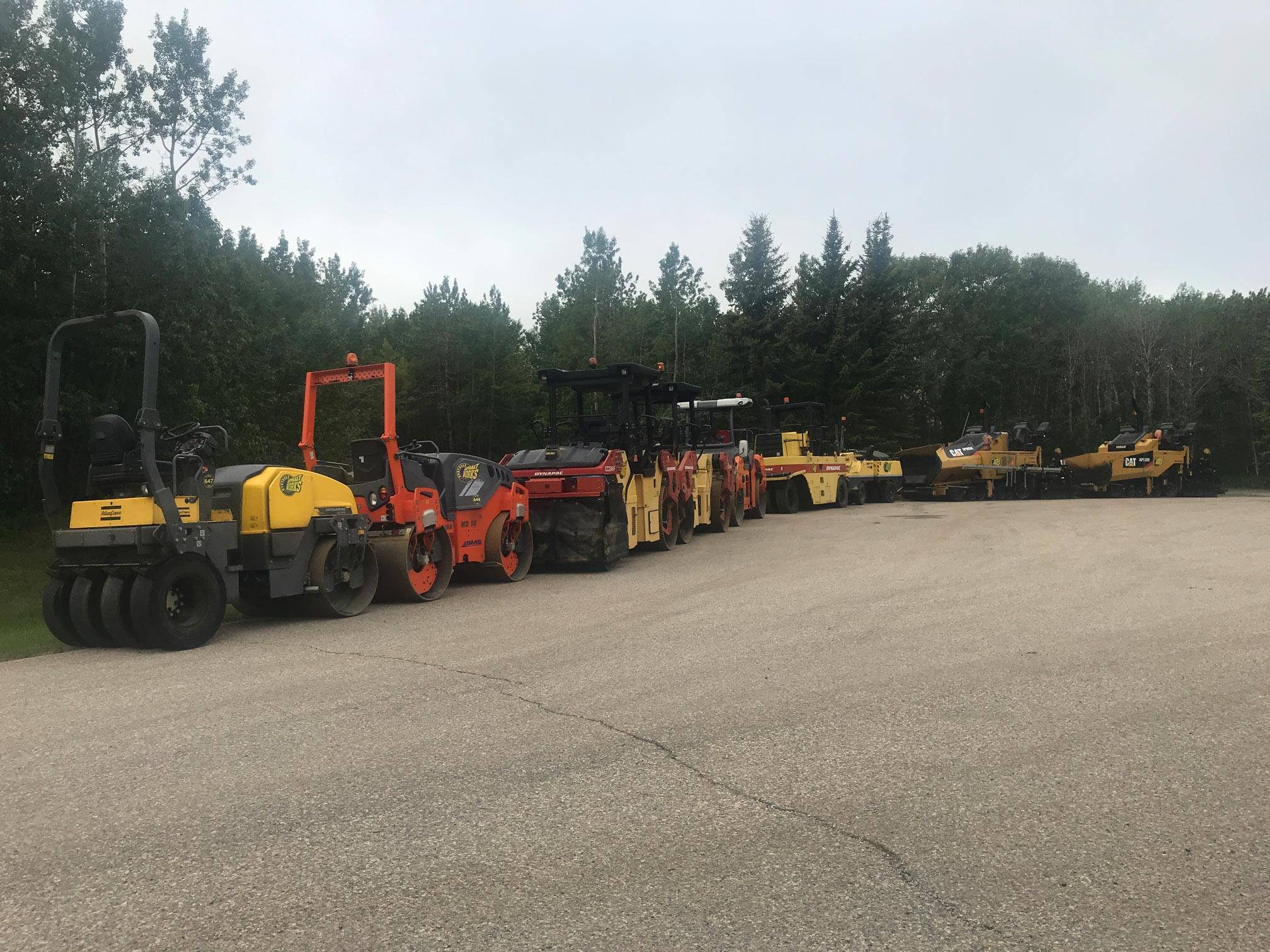 paving equipment in Bearspaw, Alberta