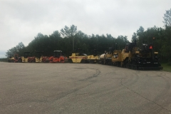 paving equipment set up in Bearspaw, Alberta