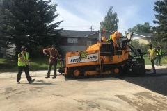 road paving in Carstairs, Alberta