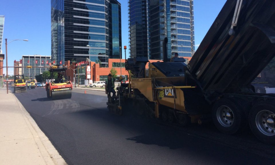 calgary asphalt road building services downtown