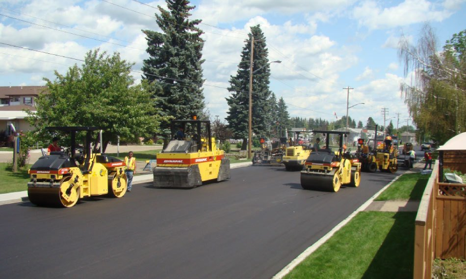 calgary asphalt road construction residential