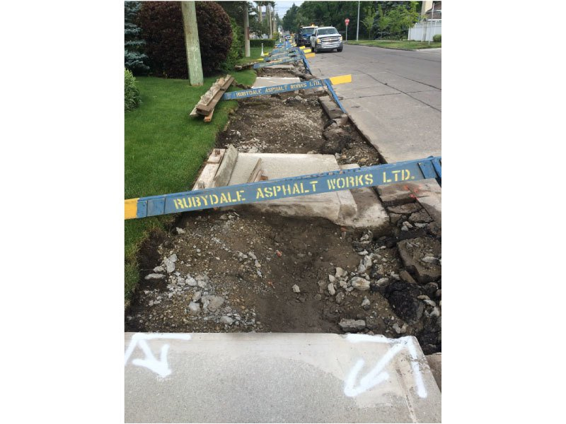 southern alberta curb sidewalk construction