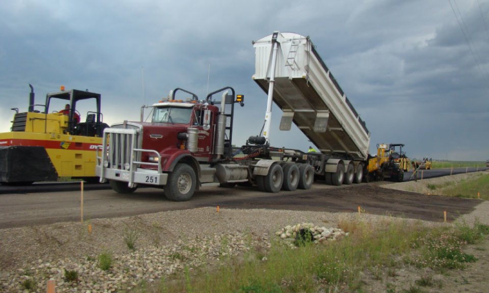 southern alberta highway interchange construction rubydale