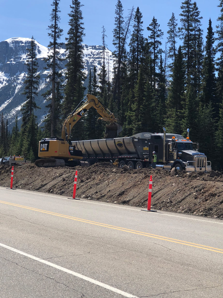 Road Construction In Banff National Park