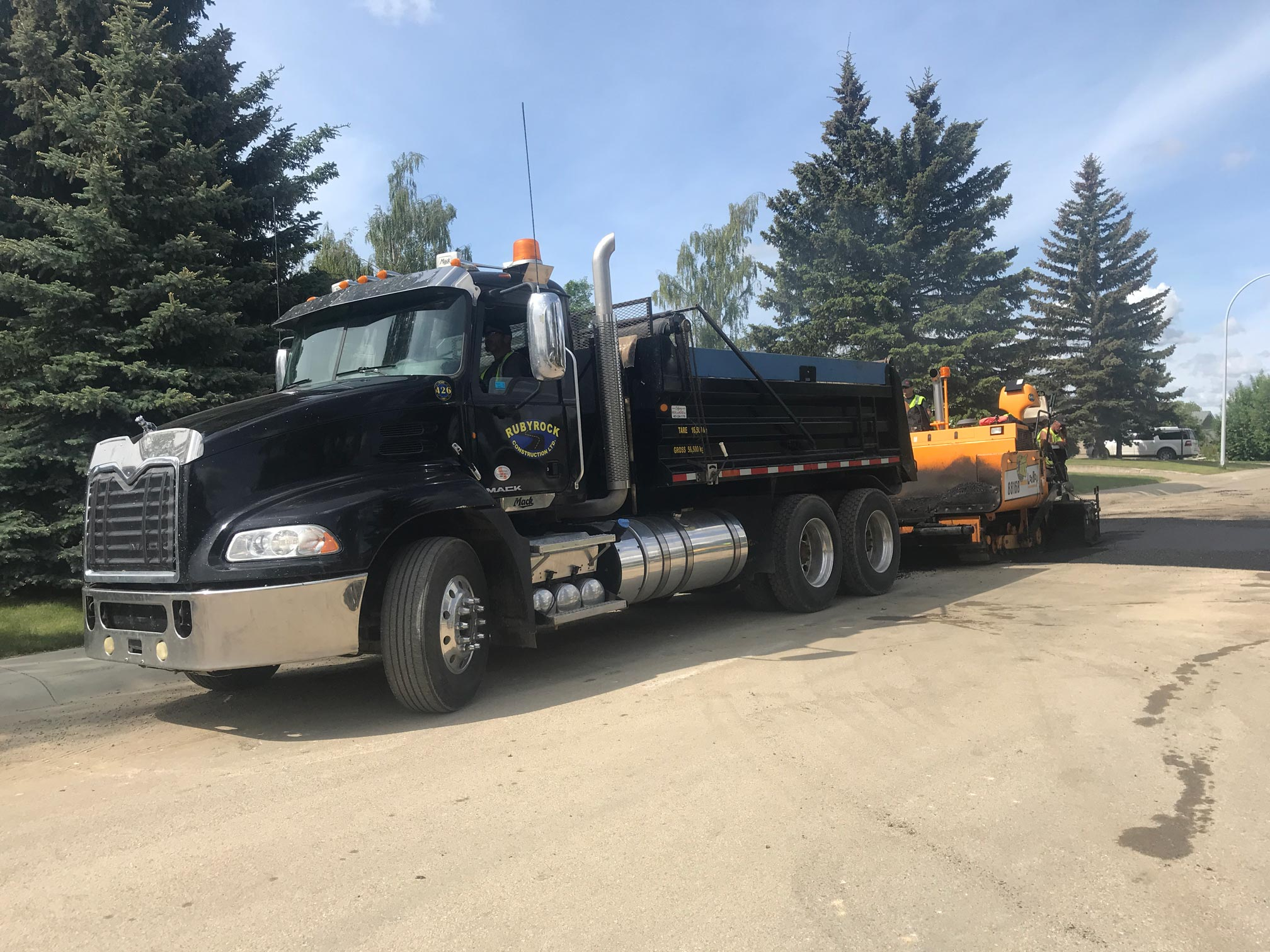 Rubydale Paving Truck In Carstairs, Southern Alberta